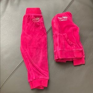 Other - Juicy Couture Velour Hooded Jacket and Pants